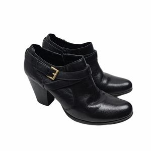 B.O.C Moore Leather Round Toe Ankle Boots 9.5M